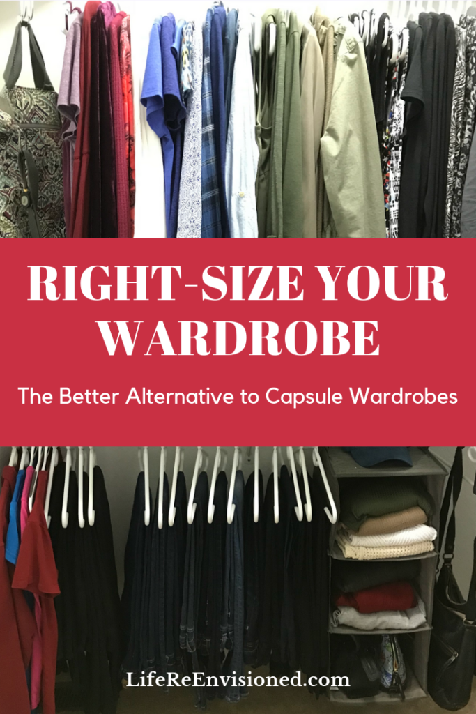 Right-size your Wardrobe Alternative to Capsule Wardrobes