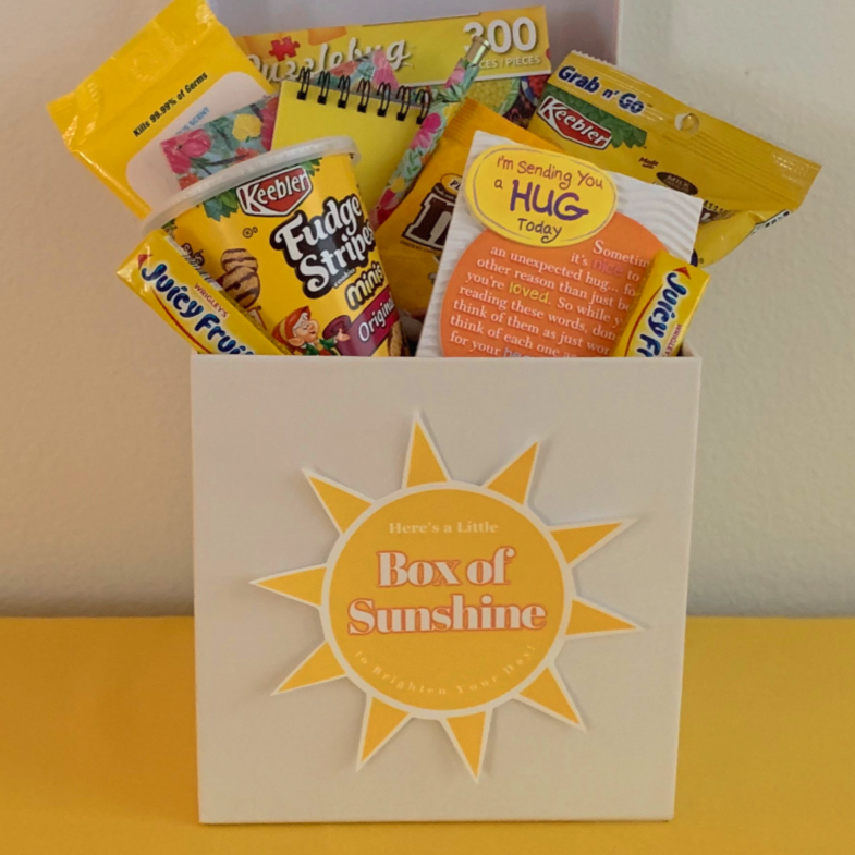 Brighten someone's day with the box of sunshine gift ideas!