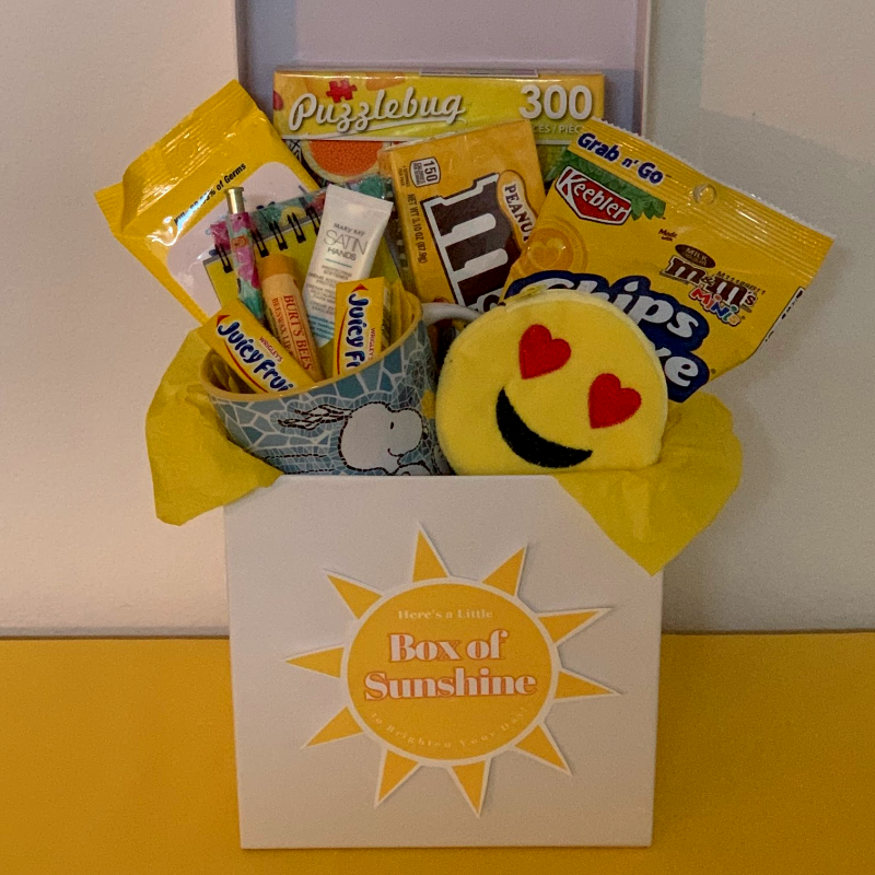 Small box of sunshine gift.