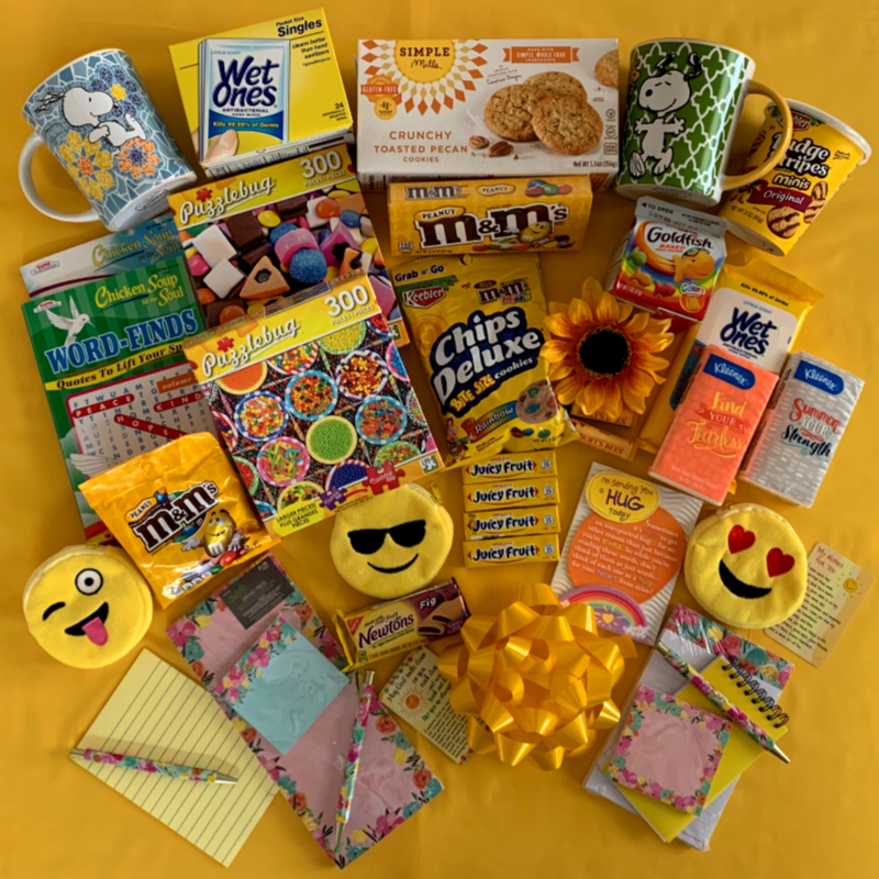 Items to include in your Box of Sunshine.