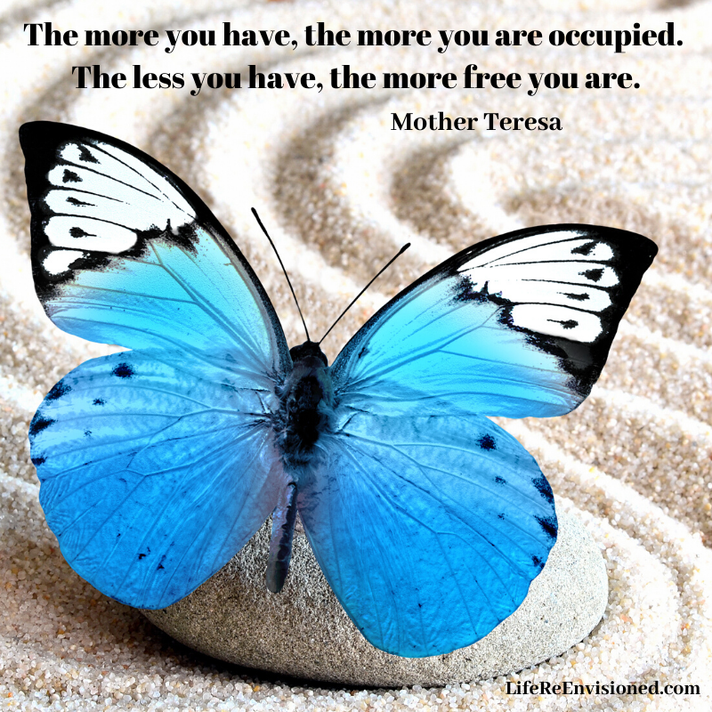 Clutter quote. Mother Teresa quote.