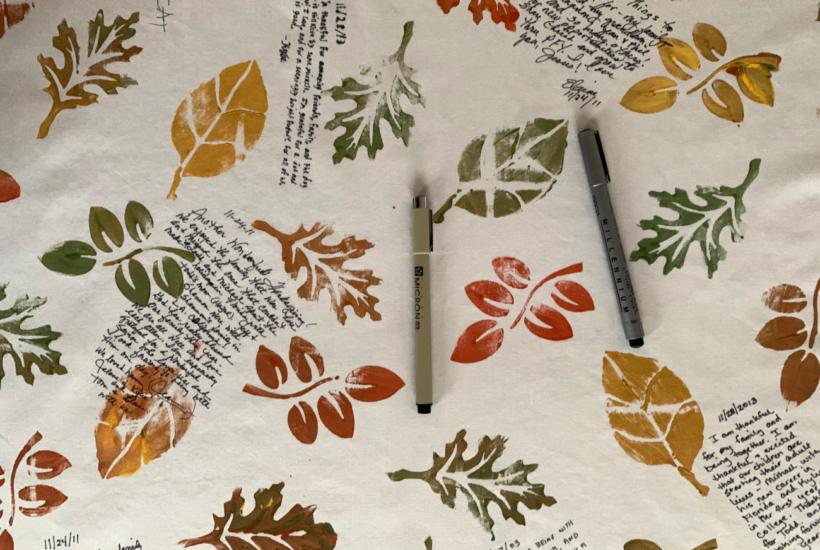 Easy DIY Stencil Thanksgiving Tablecloth